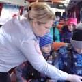Учеников люберецкой гимназии учили ПДД в специальном автобусе