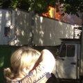 Пять единиц техники задействовали в тушении пожара в Томилине
