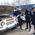 Смотр служебных автомобилей прошел в полиции Люберец
