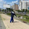 19,7 тыс кв м придорожной полосы окосили в Люберцах за неделю